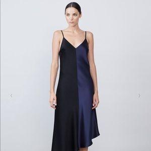 Allen Schwartz Risa Color Blocked Slip Dress